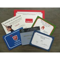 Plaques cadeaus entreprise personnalisées en PVC