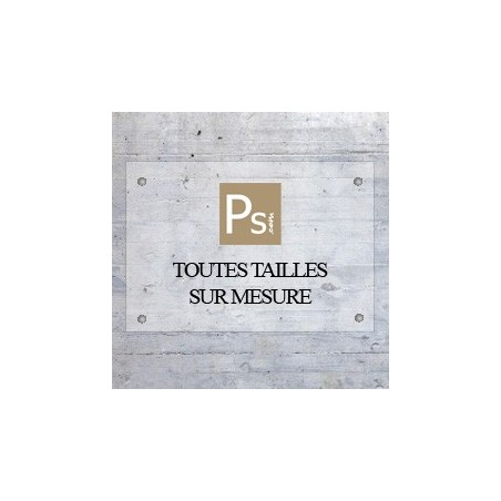 Plaque pro plexi avec logo - sur mesure